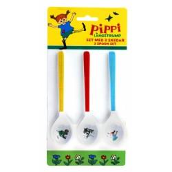 Pippi melaminskjeer 3pk