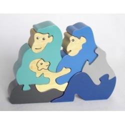 Gorillafamilie - puslespill