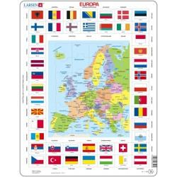 Europa kart og flagg