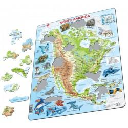 Nord Amerika med dyr