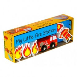 Brannstasjon trefigurer